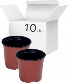 Упаковка горшков для рассады Modiform Терракотовых 3 л x 10 шт (2020071608)