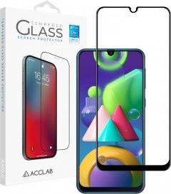 Защитное стекло ACCLAB Full Glue для Samsung Galaxy M21 Black (1283126508639)