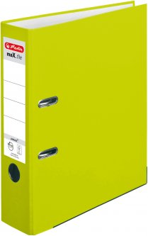 Папка-регистратор Herlitz А4 8 см Protect Neon Green Лимонная (50022465)