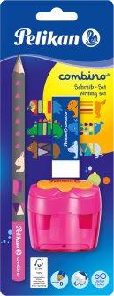 Набор для обучения письму Pelikan Combino Blue карандаш + ластик + точилка Розовый (811217P)