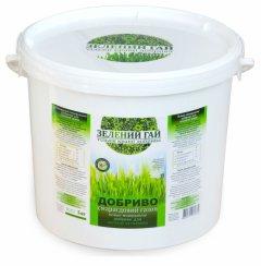 Сухе мінеральне добриво для газонної трави «Зелений гай» Смарагдовий газон Гілея (відро 5кг)