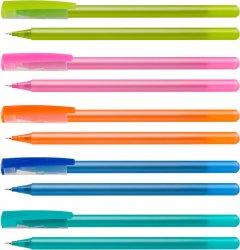 Набор масляных ручек Optima Flame Синий 0.7 мм Корпус ассорти 50 шт (O15643-02)