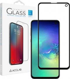 Защитное стекло ACCLAB Full Glue для Samsung Galaxy S10e Black (1283126508691)