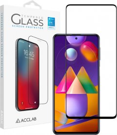 Защитное стекло ACCLAB Full Glue для Samsung Galaxy M31s Black (1283126508707)