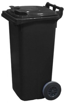 Мусорный контейнер Jcoplastic 480 х 950 х 530 мм 120 л Темно-серый (J0120 DGDG)