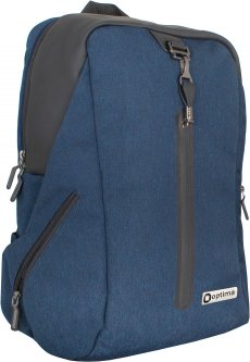 """Рюкзак Optima 18"""" Techno мужской 0.7 кг 26-35 л Синий с выделенными элементами (O97491)"""