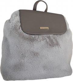"""Рюкзак молодежный Cabinet 12.2"""" плюшевый женский 0.65 кг 6-15 л Серый (O97574)"""