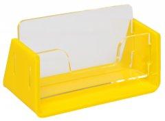Визитница одинарная Wissaider Двухэлементная (акрил 3 мм) + желтая 1N870 основа 3 мм (WiS-048)