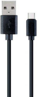 Кабель Cablexpert USB - USB Type-C 1 м Black (CC-USB2-AMCM-1M)