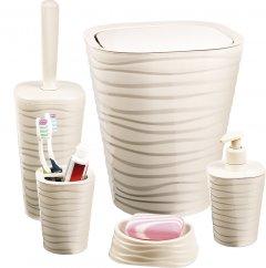 Набор аксессуаров для ванной комнаты PLANET Welle 5 предметов кремовый