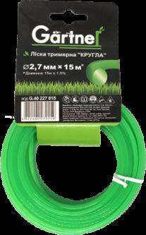 """Леска для садових триммеров Gartner """"Круглая"""" 2.7 мм × 15 м (4822402270159)"""