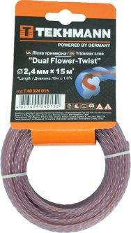 """Леска для садових триммеров Tekhmann """"DUAL Flower-Twist"""" 2.4 мм × 15 м (4823409240152)"""