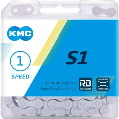 Цепь велосипедная KMC S1 1/2х1/8х112L RB 1 ск. Серая (00877)