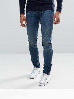 Темні джинси скінні ASOS ASA020920-5 34 in (8370934in) Синій