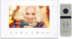 Комплект видеодомофона CoVi Security Onyx FHD White + Iron FHD Silver