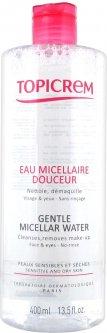 Мицеллярная вода Topicrem Gentle Micellar Water Face & Eyes для снятия макияжа 400 мл (3700281703214)