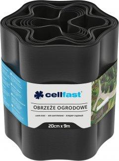Газонный бордюр Cellfast волнистый 20x900 см Черный (30-033H)