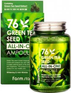 Сыворотка для лица FarmStay 76 Green Tea Seed All-In-One Ampoule с зеленым чаем 250 мл (8809469775090)