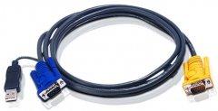 KVM-кабель ATEN 2L-5202UP PS/2-USB + SPHD 3-в-1 1.8 м (2L-5202UP)