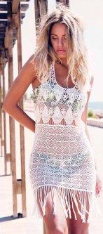 Платье пляжное Admas 19416 M Белое (8433623318054)