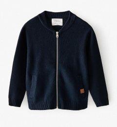 Кардиган на молнии для мальчика Zara 152 размер темно-синий 6350662