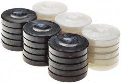 Набор перламутровых фишек Manopoulos 400 г 30 шт Белые с черным (PR1BLA)