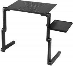 Складной столик для ноутбука Supretto с вентилятором Черный (5800-0001)