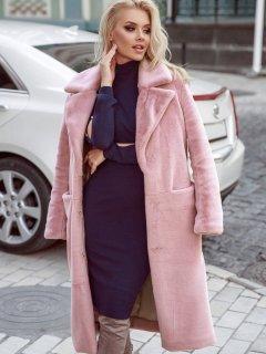 Шуба Gepur 28719 S Пудровая с розовым (5000003890115)