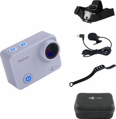 Видеокамера AirOn ProCam 7 Touch Grey набор блогера с аксессуарами для съемки от первого лица 8в1 (69477915500058)