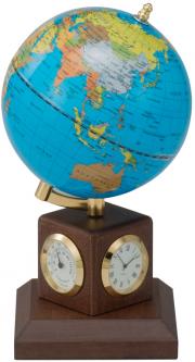 Глобус Bestar Blue на деревянной подставке с метеостанцией Орех (0966HJX-B)