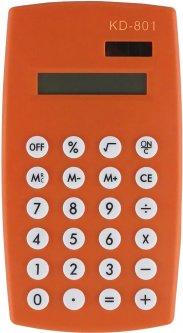 Калькулятор электронный KLERK 8-разрядный Оранжевый (Я17899_KD-801_оранжевый)