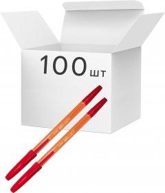 Упаковка шариковых ручек KLERK Melody 0.7 мм Красных 100 шт Желтый корпус (Я44684_KL0420-R_100)