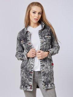 Джинсовая куртка Mila Nova Q-31 52 Черная (2000000012704)