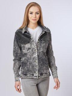 Джинсовая куртка Mila Nova Q-29 42 Черная (2000000011707)