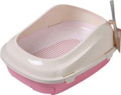 Туалет для кошек под наполнитель Animall с сеткой 56х40х21 см Р 1061 Розовый (2000981180249)