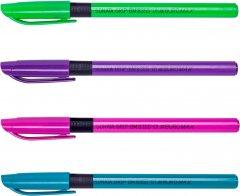 Набор масляных ручек 12 шт Buromax SonataGrip Синий 0.5 мм Разноцветный корпус (BM.8355-01)