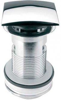 Донный клапан латунный для раковины McALPINE Click-Clack c переливом 1 1/4x90x60 DECOR квадратный (5036484040237)