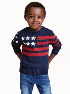 Джемпер H&M 0389087-22 98-104 см Темно-синій прапор (9999965935033)