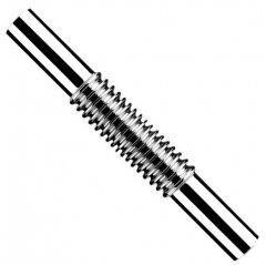 Патрубок латунный для сифона к раковине McALPINE 32 x 32 x 295 мм гофрированный (5036484045829)