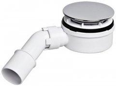 Сифон пластиковый для поддона McALPINE 90 мм h60 мм с пластиковой накладкой 113х40/50 мм (5036484048714)
