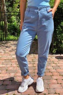 Джинси із завищеною талією на ризинке Lurex джинс (4XL)