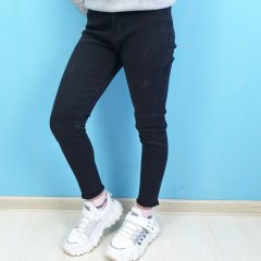 Джинси для дівчинки Cool Finish (262-2тем) Розмір 14, 164 см Чорний