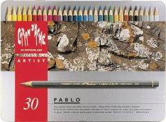 Набор акварельных карандашей Caran d'Ache Pablo металлический бокс 30 цветов (7610186093302)
