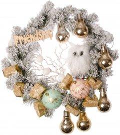 """Рождественский венок Новогодько (YES! Fun) с декором """"Совенок"""" d-35 см (904392)"""