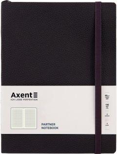 Записная книга Axent Partner Soft L 190х250 мм в гибкой обложке 96 листов в клетку Черная (8615-01-a)