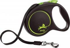 Поводок-рулетка Flexi Black Design М лента 5 м Зеленый (4000498034026)