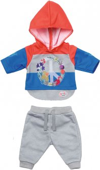 Набор одежды для куклы Baby Born Трендовый спортивный костюм Синий (826980-2)