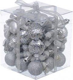Набор елочных украшений Jumi 3 см 40 шт Серебристый (5900410410985)