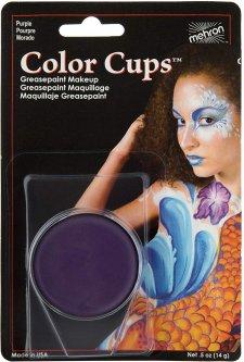 Кремовый грим Mehron Color Cups Purple 12 г (CCC-P) (764294502076)