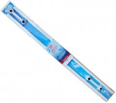 Штанга для шторки МОЙ ДОМ 125-225 двойная алюминиевая с ПВХ-покрытием